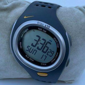 Nike Digital Watch Triax v10 Sport Wrist Watch Multi Function 100 Lap W/R